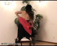 brunette milf stripping - scene 5
