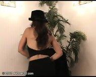brunette milf stripping - scene 6