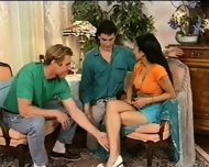 Spanish Girl With 2 Guys - scene 1