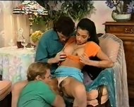Spanish Girl With 2 Guys - scene 2