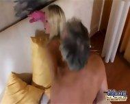blonde teen likes grandad - scene 11