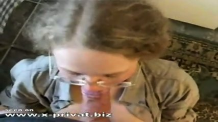 teen with glasses swallows