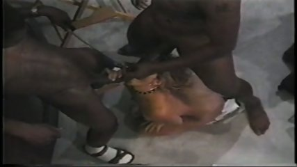 Phyllisha Anne as sex slave to two hung black dude - scene 4