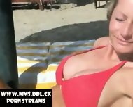 Blond Girl with great Boobs fucks in her Holiday - scene 1