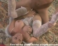 Big boobs blonde pleasuring in angel suit - scene 11
