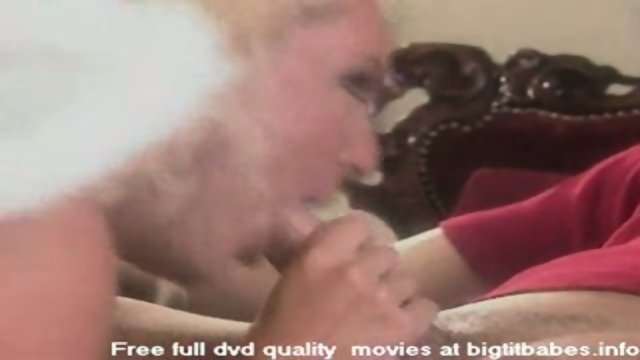 Big boobs blonde pleasuring in angel suit