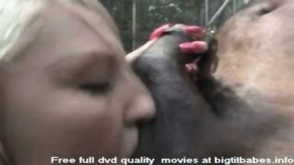 Blonde Slut sucking big black cock - scene 8