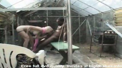 Blonde Slut sucking big black cock - scene 11