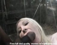 Blonde Slut sucking big black cock - scene 12