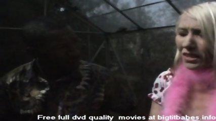 Blonde Slut sucking big black cock - scene 1