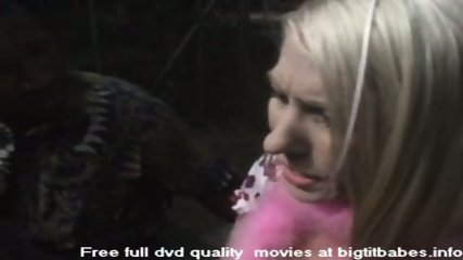 Blonde Slut sucking big black cock - scene 2