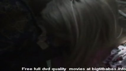 Blonde Slut sucking big black cock - scene 3