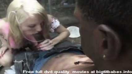 Blonde Slut sucking big black cock - scene 4