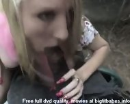 Blonde Slut sucking big black cock - scene 5