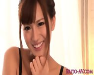 Asian Rio Fujisaki gets both her holes toyed - scene 1