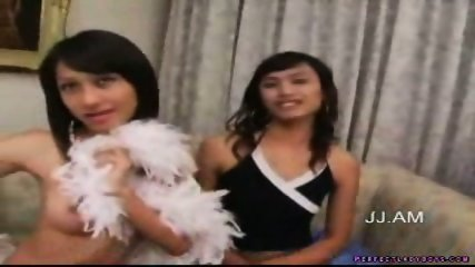 Shemales Ice and Song equals 2 Perfect Ladyboys - scene 1