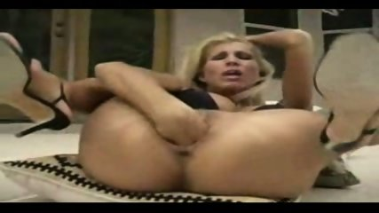blonde fisting herself very hard - scene 10