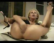 blonde fisting herself very hard - scene 7