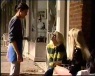 Brandy Scott and her shemale friend Kelly Michaels - scene 9