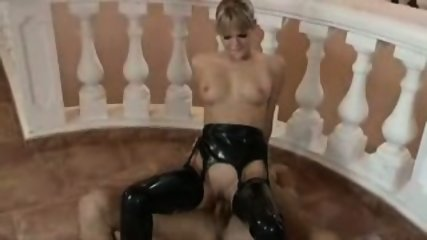 Gorgeous Young Blonde Latex Fuck - scene 11