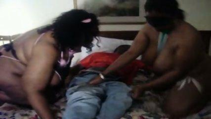 Black BBW Threesome - scene 2