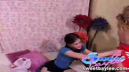 Baylee and Tobi in a lesbian scene - scene 1