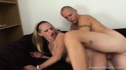 Blond hottie slut grinds hard cock