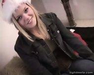 Tight Teela in a santa hat - scene 1