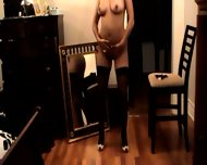 Brunette Dancing in Black Stockings - scene 5