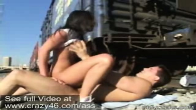Charley Chase loves to fuck on the train tracks