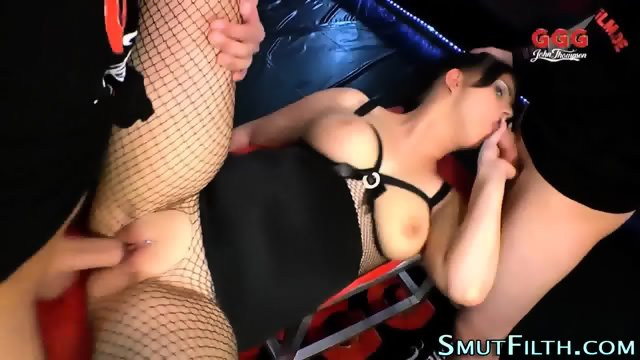Fetish slut swallows load