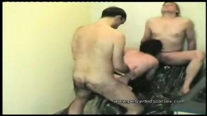2 guys fuck and piss on one girl - scene 7