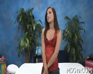 Blondie banged in a massage room
