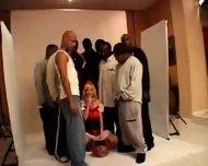 Blond White Riding-hood fucked by 10 black guys 2 - scene 8