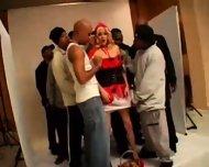 Blond White Riding-hood fucked by 10 black guys 2 - scene 9