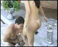 beuatiful shemale poolside fun - scene 5