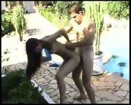 beuatiful shemale poolside fun - scene 6