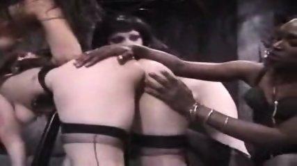 Interracial Lesbian Spanking - scene 5