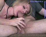 Blonde mature sucks cock - scene 9