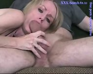Blonde mature sucks cock - scene 10