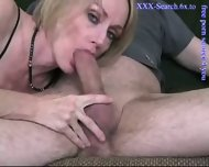 Blonde mature sucks cock - scene 11