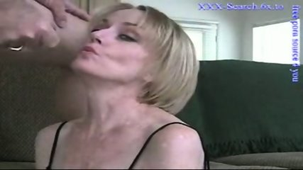Blonde mature sucks cock - scene 12