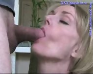 Blonde mature sucks cock - scene 5
