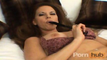 Horny MILF dildoing her hairy pussy - scene 10