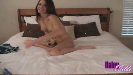 Haley dildo on bed - scene 11