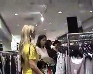 Hot German Blonde in Public Changing Room - scene 2