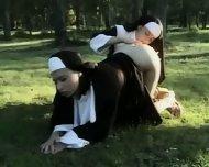 Nuns lesbians asslicking - scene 6
