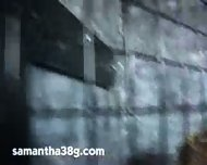 Samantha sucking black dick - scene 2