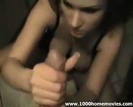 girlfriend giving handjob - scene 3