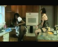Interracial Lesbian Bondage One - scene 6